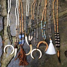 Srta-Pepis Rustic Jewelry, Bohemian Jewelry, Handcrafted Jewelry, Diy Jewelry, Beaded Jewelry, Fashion Jewelry, Jewelry Design, Beaded Necklace, Jewlery