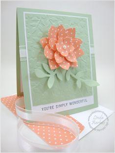 Spring Flowers - Flower Frenzy die , Simply Wonderful (SAB), Spring Flower embossing Folder (Occasions 2015)