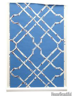 Trellis Wallpaper - Lattice Wallpaper Designs - House Beautiful
