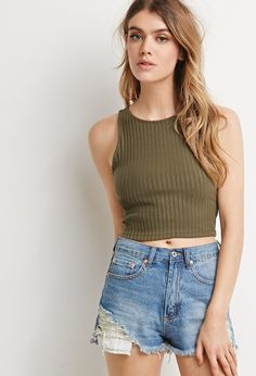Ribbed Knit Crop Top | Forever 21 - 2000183668