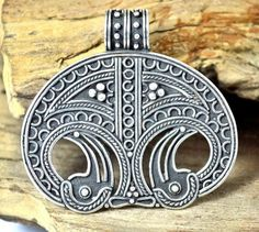 Viking Lunula Lunitsa Silver Replica Denmark Women Necklace Museum Replica Pagan Jewelry Norse Vikings, Danish, Necklace Designs, Denmark, Pendant Jewelry, Pearl, Sterling Silver Rings, Museum, Jewels