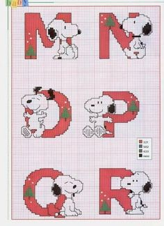 Schema Punto Croce Alfabeto Linus 3