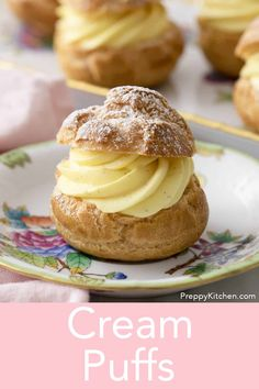 These light and delicate cream puffs bursting with vanilla pastry cream from Preppy Kitchen make for an unforgettable treat. They're easy to make and beyond delicious! Desert Recipes, Gourmet Recipes, Baking Recipes, Sweet Recipes, Cookie Recipes, Gourmet Foods, Top Recipes, Köstliche Desserts, Delicious Desserts
