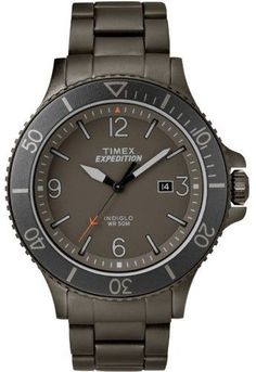 Timex Men's Expedition Ranger Gray Watch, Stainless Steel Bracelet