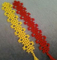 Tatting and not a lot else!: Bookmarks from Jane in South Africa - pattern with split rings