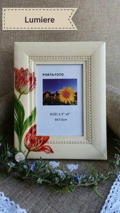 Foto frame tulips decoupage