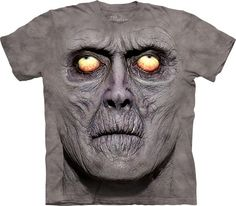 Time for a new cool graphic t-shirt? Try the Zombie Portrait T-Shirt on for size! Shop The Mountain website for the largest and coolest selection of fantasy t-shirts online. Dark Fantasy, Zombie Gifts, Zombie Face, Funny Zombie, Zombie Shirt, Image 3d, Big Face, 3d T Shirts, Funny Shirts
