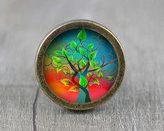 Tree of Blessings  Handmade Vintage Bronze Dresser by jade4wood
