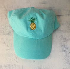 Hey, I found this really awesome Etsy listing at https://www.etsy.com/listing/292163209/monogrammed-pineapple-baseball-hat