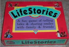Basically, roll the dice, move, draw a card, and share something about your life as directed on the card.  From the front of the box:  A fun game of telling tales and sharing smiles with family and friends.