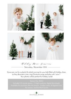 holiday photography 2018 Holiday Mini Sessions - A - holiday Christmas Mini Sessions, Christmas Minis, Christmas Holidays, Holiday Mini Session Ideas, Mini Session Themes, Minimalist Christmas, Christmas Photography, Christmas Photos, Christmas Portraits