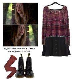 """Violet Harmon -ahs / american horror story"" by shadyannon ❤ liked on Polyvore featuring River Island, Fogal and Dr. Martens"