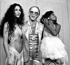 Elton John, Cher, and Diana Ross at Studio 54