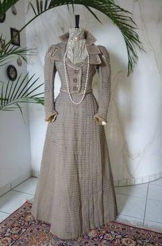 antikes Kleid, Kleid 1899, antikes Ausgehkleid, antikes Promenadenkleid, Ausgehkleid 1899, Promenadenkleid 1899, antike Kleidung, antikes Kostüm, Mode um 1900, antike Kleider kaufen