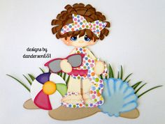 listed on ebay...danderson651 Girl, Summer, Beach, Paper Piecing, PreMade, Embellishment, Scrapbooking, Border Facebook - danderson651