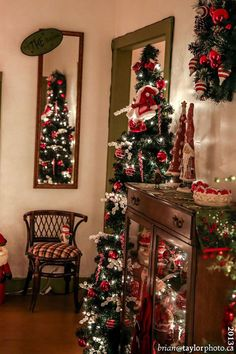 Country Christmas a must see house tour OVER 30 Christmas trees!!