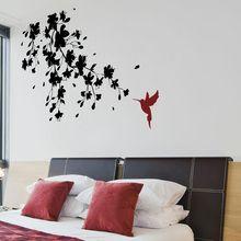 Sticker Branche de Cerisier avec Colibri (2 couleurs) Gali Art