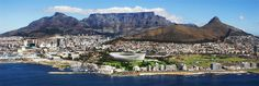Cape Town's iconic Table Mountain National Park (TMNP) was officially inaugurated as a New 7 Wonders of Nature 7 Natural Wonders, Table Mountain, Cheap Flights, World Heritage Sites, Cape Town, Luxury Travel, South Africa, Dolores Park, Beautiful Places