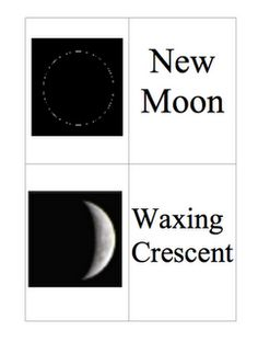 Free Moon Phases Matching Game - though geared to upper grade levels, I think my second graders would like 'em. Fourth Grade Science, Kindergarten Science, Middle School Science, Elementary Science, Science Classroom, Teaching Science, Preschool, Teaching Ideas, Science Resources