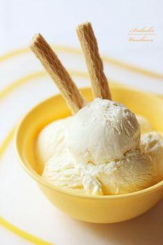 Lody z biala czekolada  #desery #lody Popsicles, Sweet Treats, Frozen, Ice Cream, Ice Cream Sandwiches, Eten, No Churn Ice Cream, Pallets, Sweets