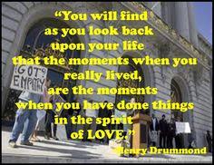 Henry Drummond, My favorite quote ever