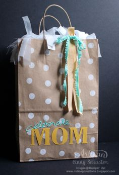 Mom Gift Bag with e-cutter and My Digital Studio by Nutmeg Creation's Cindy Schuster