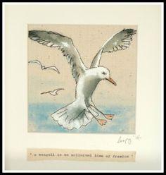 Flying Jonathan Gull.... by Loopy Linnet