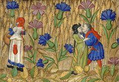 Amori nel campo di grano - Libro d'Ore (XV secolo) BnF
