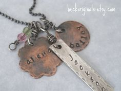 Love this family necklace by beckoriginals on etsy.