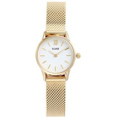 Women's Cluse La Vedette Mesh Strap Watch, 24Mm (£91) ❤ liked on Polyvore featuring jewelry, watches, mesh watches, thin watches, thin wrist watch, slim watches and mesh jewelry