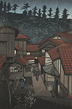 "Japanese Art Print ""Yufuku Hot Spring (Yufuku Onsen)"" from the Series ""Souvenirs of Travels (3rd Series)"" by Kawase Hasui. Shin Hanga and Art Reproductions http://www.amazon.com/dp/B00Y5QBVNU/ref=cm_sw_r_pi_dp_w5Qvwb08M8W6R"