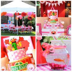 If this was all red, green, and yellow, I would HATE it. However, I LOOOOVE the pink sesame street theme going on!