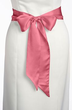 "L. Erickson Silk Charmeuse Bridal Sash, Medium | Nordstrom 2.5"" x 75"""