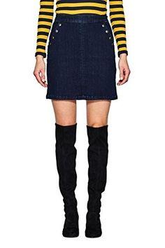 Falda vaquera #faldas #moda #mujer #outfits  #faldavaquera #faldadenim #denim #faldasinvierno #style #shopping #fashion #modafemenina