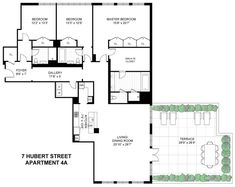 Condo Floor Plans, Apartment Floor Plans, House Plans, New York Apartments, Brooklyn Brownstone, Income Property, Floating Staircase, Property Records, Entry Foyer