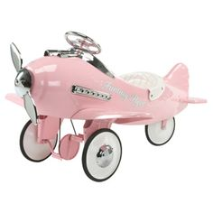 *AIRFLOW FANTASY FLYER PEDAL PLANE ~ releastic moving propeller makes children feel like they are really piloting the flight. The plane's safe, lead-free powe-coat paint and durable 16-gauge steel construction impress parents as well, solid rubber tires glide over terraine for a smooth ride.