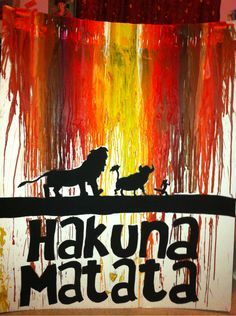 I usually hate these crayon art things but I actually like this one. Lion King Love