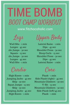 Body Workout: Total Body Time Bomb Boot Camp Workout