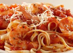 Shrimp Pasta with Spicy Tomato Sauce - quick and easy - packed with flavor and a touch of heat from the Italian herbs and crushed red pepper. Use jumbo shrimp if you want to make it impressive! Spicy Shrimp Pasta, Shrimp Pasta Recipes, Shrimp Dishes, Pasta Dishes, Seafood Recipes, Dinner Recipes, Cooking Recipes, Spicy Tomato Sauce, Tomato Sauce Recipe