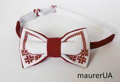 Retro red bow tie Boy's bow tie wedding bow tie for men