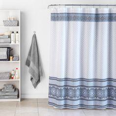 Medallion Border Shower Curtain