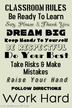 Great site to create your own classroom rules posters