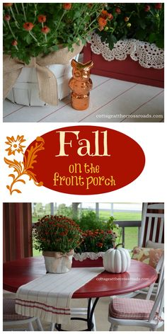Easy to add decorations to get your porch ready for fall!