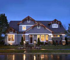 Plan W89790AH: Northwest, Shingle Style, Premium Collection, Corner Lot, Luxury, Photo Gallery, Craftsman House Plans & Home Designs