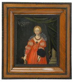 Portrait of Maria Eleonora pair with one of her husband Gustav II Adolf of Sweden