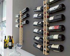 Weinregale zum Selberbauen mit modernem Design aus Holzleisten