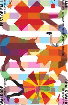 John Malinoski, 2010. New poster for the Waldorf School Chalk Walk, Richmond, VA.