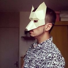 Make a Half Face Fox papercraft mask Fox Mask, Skull Mask, As You Like, All You Need Is, Game Of Thrones Mask, Animal Set, Surviving In The Wild, Mask Template, Half Face Mask