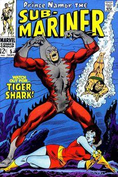 Sub-Mariner #5 (Sep '68) cover by John Buscema & Frank Giacoia