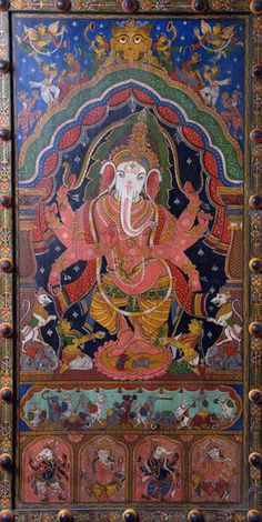 Ganesha Painted Panel from Nectar